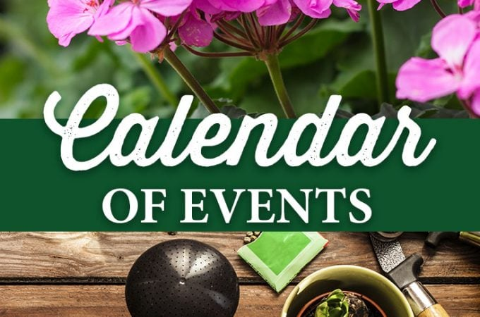 Calendar of Events for 2018