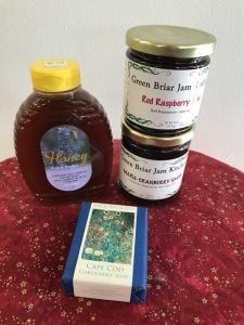 Local Honey, jam and soap